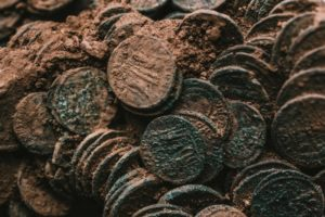 Coins awaiting conservation
