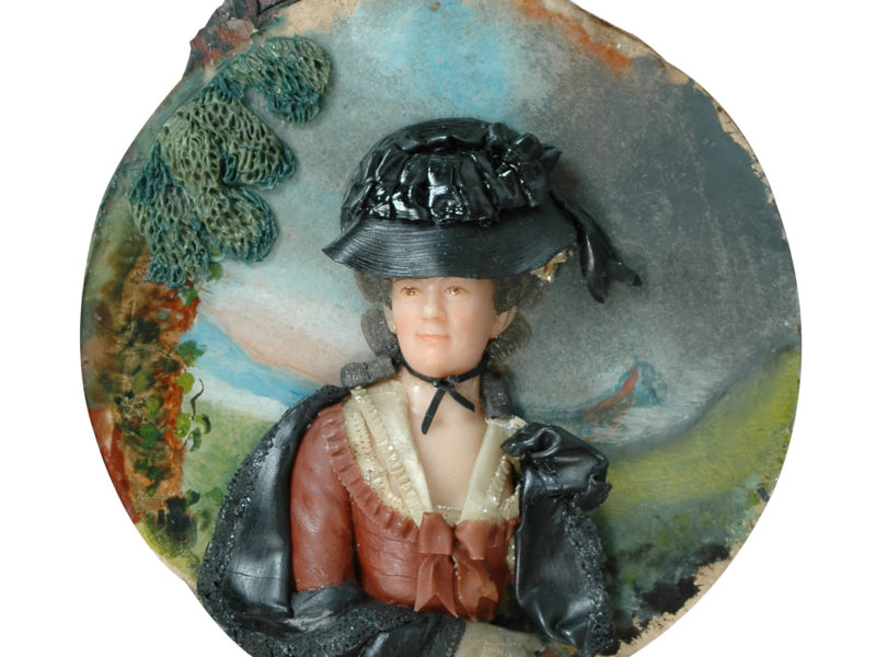 An example of the wax portraits looked at in the research