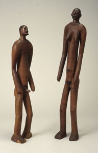 Wooden Early initiation figures, south-east Africa