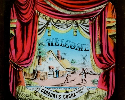 A magic lantern slide welcoming people to the show!