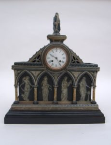 Front of Gothic Revival Mantle Clock