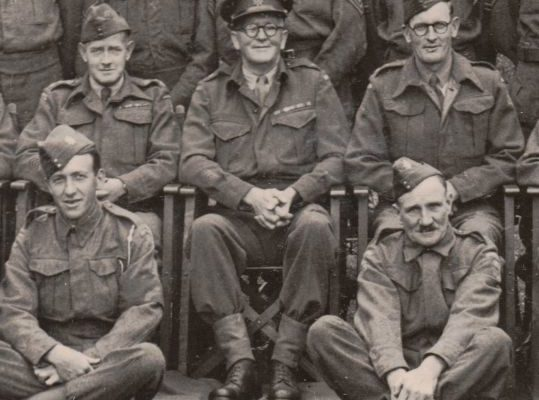 Group photo of Major Riley with his Home Guard unit