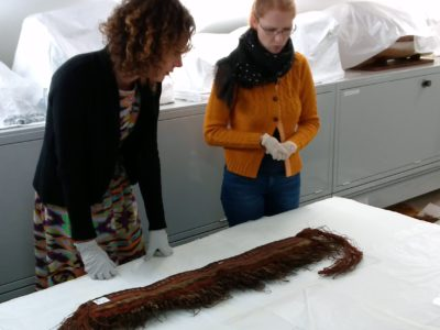 Researcher and conservator in the ethnography store