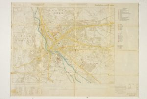 German map of Exeter used when planning the attacks on Exeter